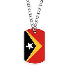 Timor-Leste Flag Dog Tags