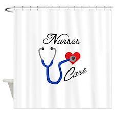 NURSES CARE Shower Curtain