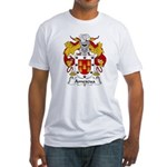 Amescua Family Crest Fitted T-Shirt