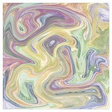 Pastel Swirl Mixture Poster
