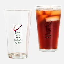 KEEP CALM SCRUM DOWN Drinking Glass
