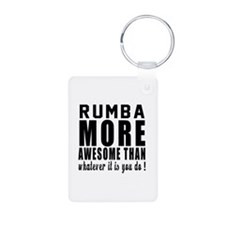 Rumba more awesome designs Aluminum Photo Keychain