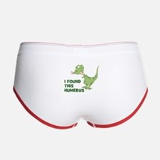 Cartoon Dinosaur Women's Boy Brief
