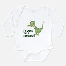 Cartoon Dinosaur Long Sleeve Infant Bodysuit