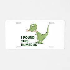Cartoon Dinosaur Aluminum License Plate