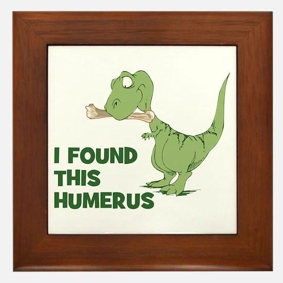 Cartoon Dinosaur Framed Tile
