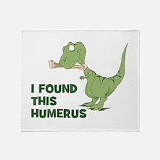 Cartoon Dinosaur Throw Blanket