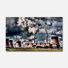Environmental Pollution Car Magnet 20 x 12
