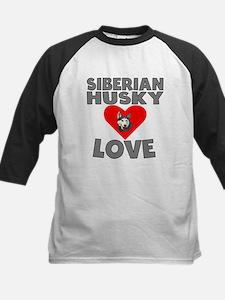 Siberian Husky Love Baseball Jersey