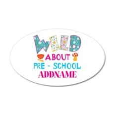Wild About Pre-K Kids Back T Wall Decal