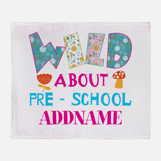 Wild About Pre-K Kids Back To School Throw Blanket