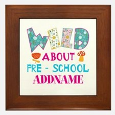 Wild About Pre-K Kids Back To School Framed Tile