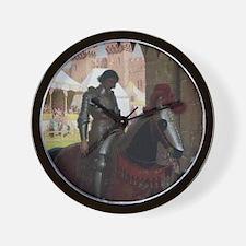 Vanquished Knight Wall Clock