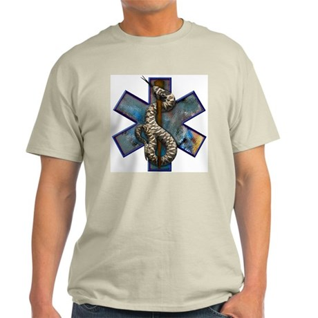 Rattlesnake Star of Life Large Logo Light T-Shirt