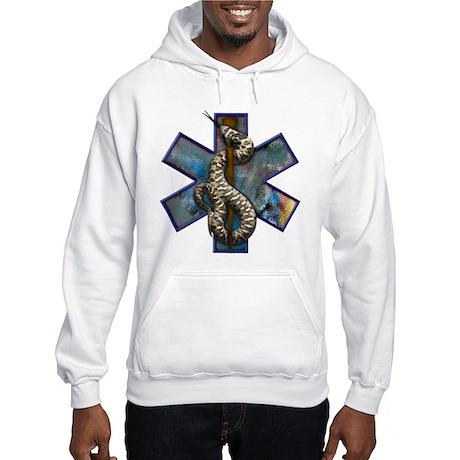 Rattlesnake Star of Life Large Logo Hooded Sweatsh