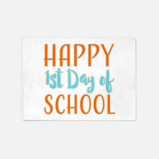 Happy 1st Day Of School 5'x7'Area Rug