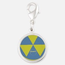 Fallout Shelter Silver Round Charm