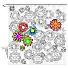 Circle Sketch 2 Shower Curtain
