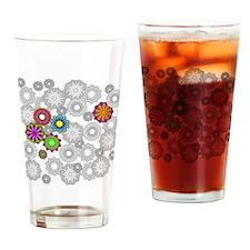 Circle Sketch 2 Drinking Glass