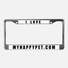 I Love MYHAPPYPET.COM License Plate Frame