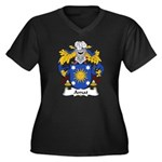 Amat Family Crest Women's Plus Size V-Neck Dark T-