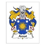 Amat Family Crest Small Poster