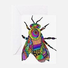 Painted Bee Greeting Cards