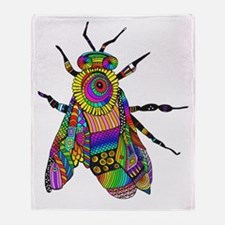 Painted Bee Throw Blanket