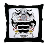 Amar Family Crest Throw Pillow