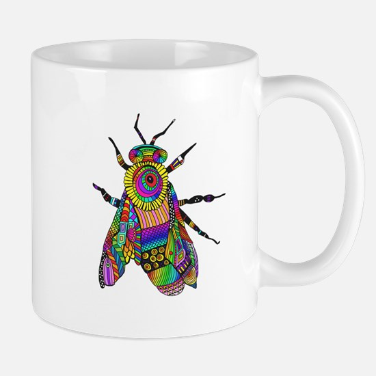 Painted Bee Mugs