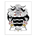 Amar Family Crest Small Poster