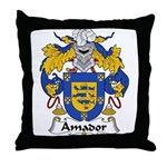 Amador Family Crest Throw Pillow