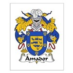 Amador Family Crest Small Poster