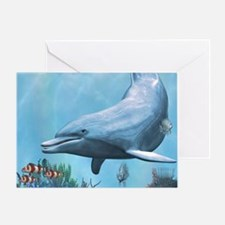 Dolphins Seascape Greeting Cards