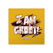 "GOTG Comic I am Groot Square Sticker 3"" x 3"""