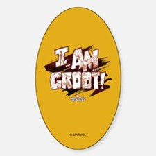GOTG Comic I am Groot Sticker (Oval)