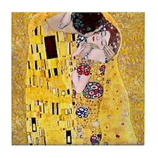 Klimt The Kiss Lovers Tile Coaster