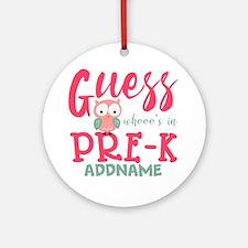 Preschool Shirts for Girls Personal Round Ornament