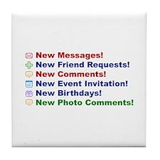 Popular on MySpace Tile Coaster