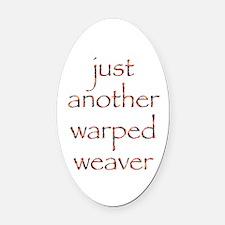 warpedbright.png Oval Car Magnet