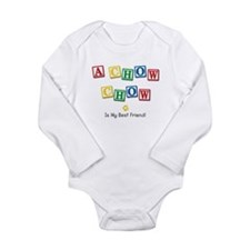 Cute Friends Long Sleeve Infant Bodysuit