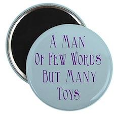 A Man of Few Words Magnet