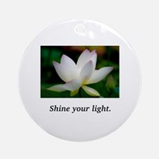 Shine Your Light Lavender Lily Round Ornament