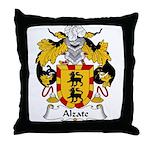 Alzate Family Crest Throw Pillow