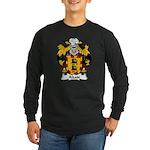 Alzate Family Crest Long Sleeve Dark T-Shirt