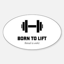 Cool Women weightlifting Sticker (Oval)