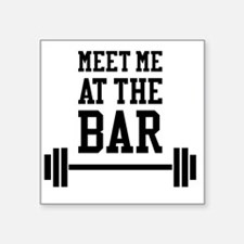"Weightlifting Square Sticker 3"" x 3"""