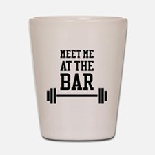 Cute Weightlifting womens Shot Glass
