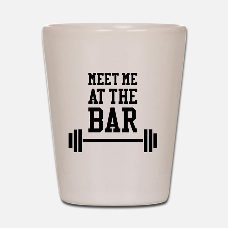 Cute Funny bodybuilding Shot Glass