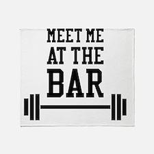Cute Funny bodybuilding Throw Blanket